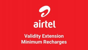 What is Validity Recharge for Airtel with the Minimum Amount