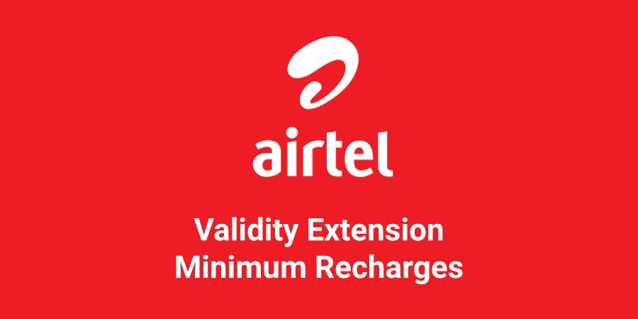 Airtel SIM validity extension recharges