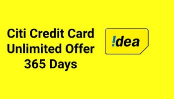 Idea Citi Credit Card Offers 1.5GB Daily Data with Unlimited Calls for 365 Days