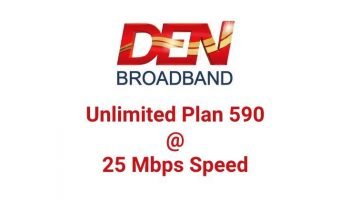 Den Broadband Plan With Rs. 595 Unlimited Pack in Select Circle