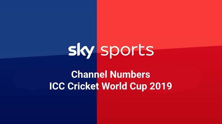 Sky Sports Channel Numbers ICC Cricket World Cup