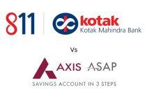Axis ASAP vs Kotak 811 – Comparison of Digital Saving Accounts