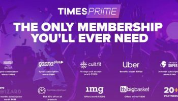 Times Prime All In One Subscription will offer you Swiggy Super, Gaana Plus etc.