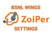 Zoiper Settings to Configure BSNL Wings
