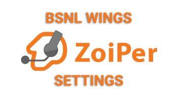 Zoiper Settings to Configure BSNL Wings