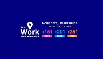 Jio Reduced Data Benefits of Work From Home Plan Now offering only 50GB