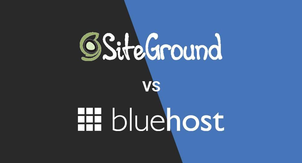 Siteground-vs-bluehost