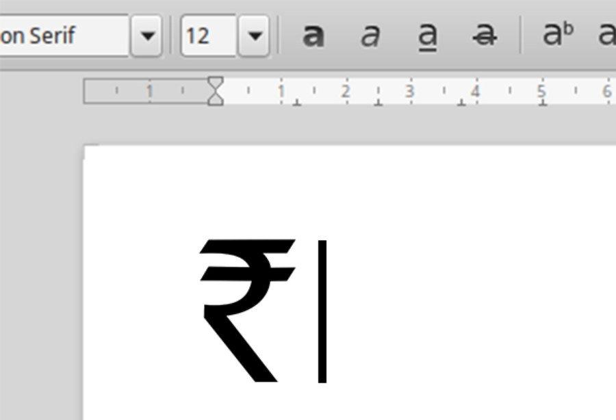 Indian Rupee Symbol Windows 10