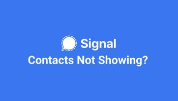 Signal Contacts Not Showing ? How to Refresh Contact List ?
