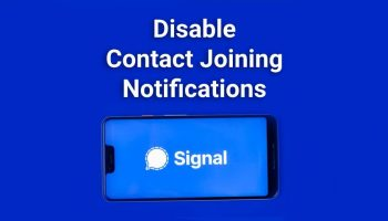 How to Disable Contact Joining Notification in Signal?