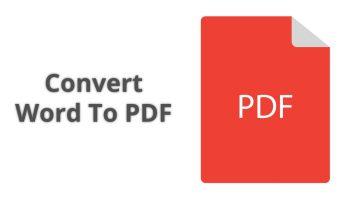 Convert Word To PDF Using iLovePDF