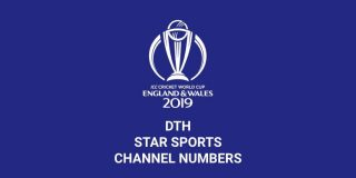 ICC Cricket World Cup - Channel Numbers List
